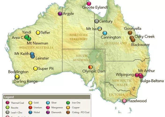 [新聞] 移民澳洲常識:九種主要的礦產資源,比世界上任何一個國家都要多!